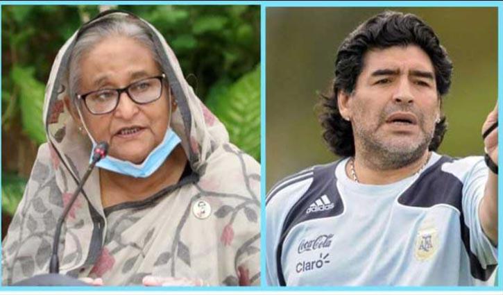 PM mourns death of Maradona