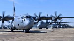 The United States has sent military aircraft to Ukraine